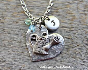 Watering Can Necklace, Gardening Necklace, Gardening Jewelry, Gardening Gift