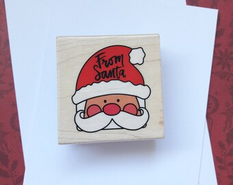 From Santa Christmas Wood Mounted Rubber Stamp Scrapbooking & Paper Craft Supplies