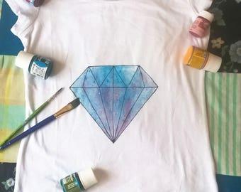 Hand painted diamond t-shirt