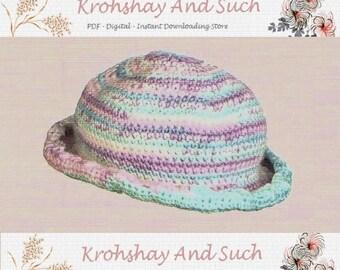 Baby Sun Hat, Easy Crochet, Crochet Pattern. PDF Instant Download.
