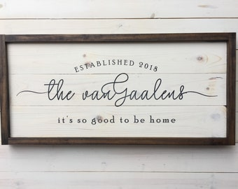 Custom Established Family Wood Sign | Wedding Gift Sign | Wood Distressed Sign | Painted | Farmhouse Decor | Personalized Wedding Gift