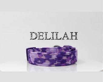 Abstract Purple Handmade Collar