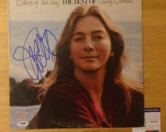 Signed Judy COLLINS Colors Of The Day LP Cover PSA