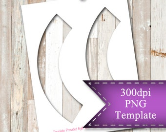 """INSTANT DOWNLOAD  Two Cupcake Sleeves Template,  8.5""""x11"""" Transparent PNG"""