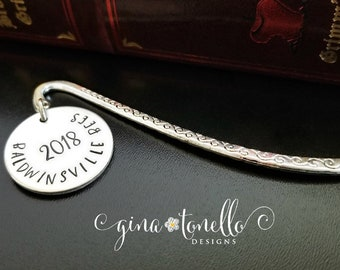 Personalized Graduation Bookmark, Graduation Gift for Him, Reader Graduation Gift Idea, Class of 2018 Gift for Graduate, Book Lover Grad