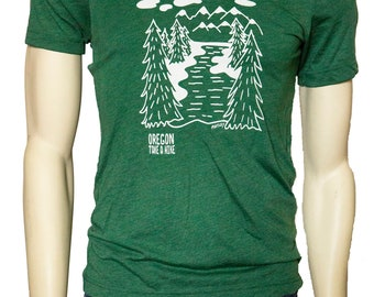 OREGON TAKE A HIKE - Soft Lightweight T Shirt - Fitted tees in crew and Vneck