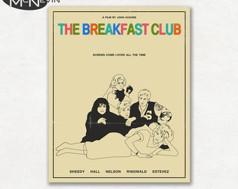 BREAKFAST CLUB, Movie Poster, Fine Art Print