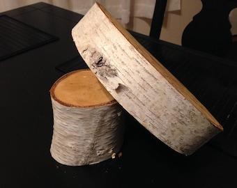 Wood Cake Stand, Wedding Cake Stand, Birch Cake Stand, Birch Slice, Wood Slab, Birch Round