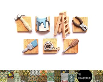 Handyman Magnets [Fridge Magnets, Fridge Magnet Sets, Refrigerator Magnets, Magnet Sets, Office Decor, Kitchen Decor, Magnetic Board]