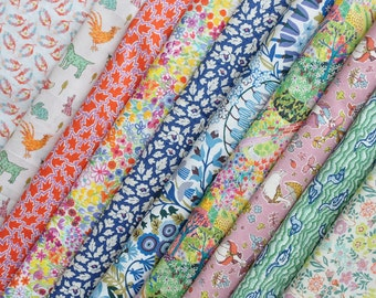 10 Liberty Tana Lawn - quilt scraps- 5''x5'' - Prints from 2017 The Little Land of Rhyme  Collection,Liberty fabrics, Liberty quilting