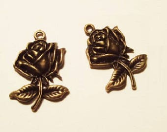 10 charms rose, bronze