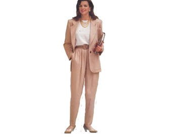 Butterick 6566 Women's Loose-Fitting Jacket, Front Pleat Pants Easy Sewing Pattern Size 6-10 Bust 30.5- 32.5 in/ 77-83cm Vintage 1990s UNCUT