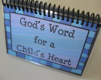 God's Word for a Child's Heart - Volume 1, PERSONALIZED, Spiral-Bound, Laminated Bible Verse Cards
