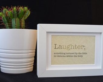 Urban Dictionary Wall Art /Laughter Definition / Dictionary Art / Funny Definition / Word Art
