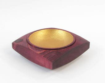 Tidy stained Burgundy and painted color gold decorative wooden country