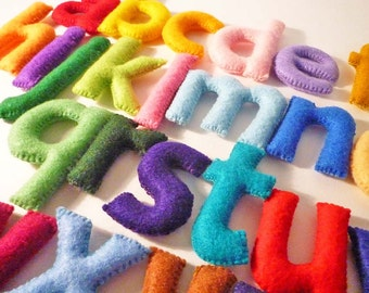 Felt Stuffed Alphabet, Felt letters for kids, Educational Toy