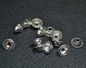 10 round silver diamètre10mm cups cups
