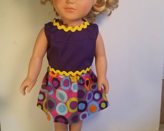 "AG dress, American girl doll skirt and shirt set.  18"" doll set."