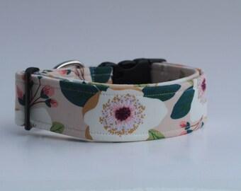 Blush Floral Dog Collar