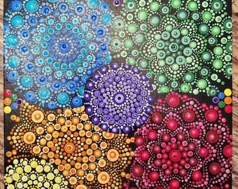 Rainbow Burst mandala