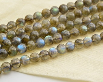 """16"""" 8mm  Labradorite  Gemstone Round Bead"""