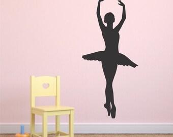 Ballet Wall Decal - Ballerina Decal - Ballet - Ballerina - Dancer Wall Decal - Dance Decals - Vinyl Wall Decals
