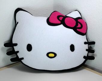 Hello Kitty Pillow Handmade Decorative Cat Kitten