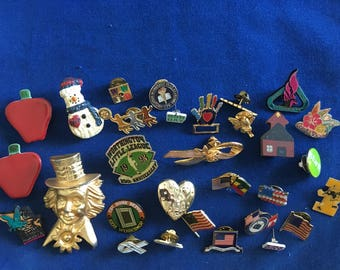 Vintage Destash Lot of Brooches & Pins