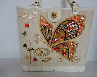Vintage Butterfly Box Purse