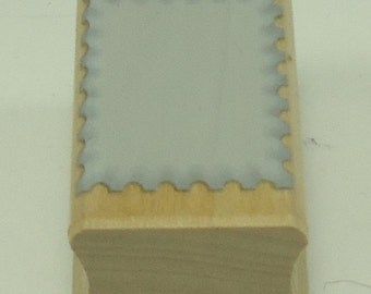 Solid Scalloped Rectangle Backgound Wood Mounted Rubber Stamp From Hero Arts Shadow Stamps A2051