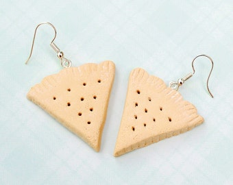Scottish shortbread earrings, shortbread biscuits, Polymer clay biscuits, clay cookies, gift for mum, gift for her, Scottish gift