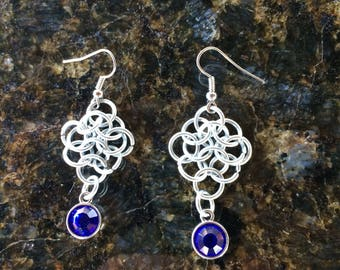 Chainmail flower earrings Chainmail Jewelry