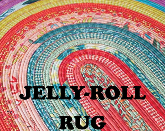 Featured listing image: Jelly Roll Rug - Pattern by RJ Designs (RJD 100)