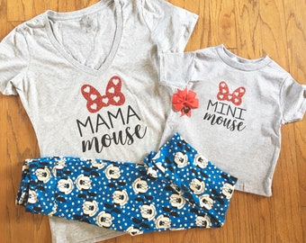 Matching MOUSE family disney shirts Mama Mouse Minnie Mouse Daddy Brother Mickey women men girls baby toddler youth disney disneyland mickey