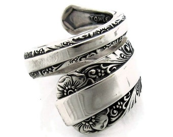 Sterling Silver Spoon Ring Size 5-11 Candlelight Towle