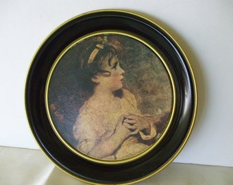 The Age of Innocence by Sir Joshua Reynolds Tin Plate/ Tray - Serving Tray or Wall Plate - Vintage - Gifts -