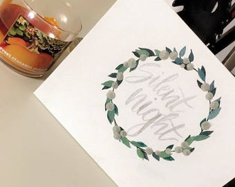 Silent Night Calligraphy