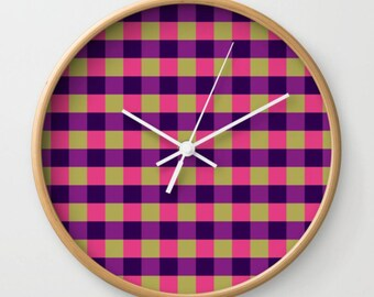 Fall Picnic Wall Clock