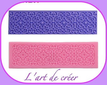 Mold Silicone lace 15.7 cm x 4.7 cm, 9 cm, ideal for decoration
