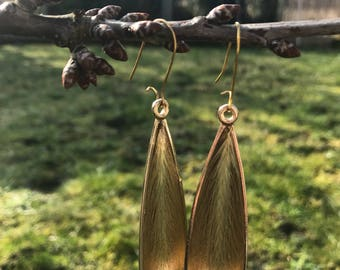 Ear of corn drops earrings