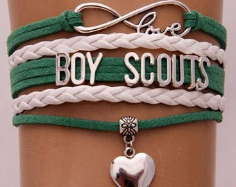 Boy Scouts Adjustable Wrap Bracelet