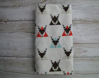 Baby swaddle blanket. Baby cotton blanket. Deers swaddle. Cotton swaddle. READY TO SHIP.