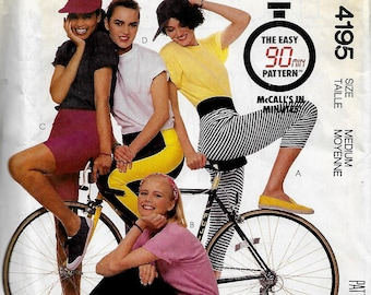 McCall's 4195    Misses Pants and Shorts  (knits only)     Size Xsm, Size Sm, or Size Med      Uncut