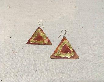 Iloko - Copper Earrings by Leilehua Yuen