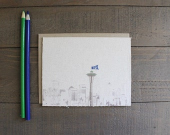 Seattle Skyline (Seahawk edition)