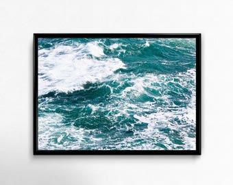 Ocean Waves, Ocean Poster, Wave Print, Coastal Wall Art, Print Beach Ocean,Waves Printable, Ocean Waves Photo, Wall Art Prints