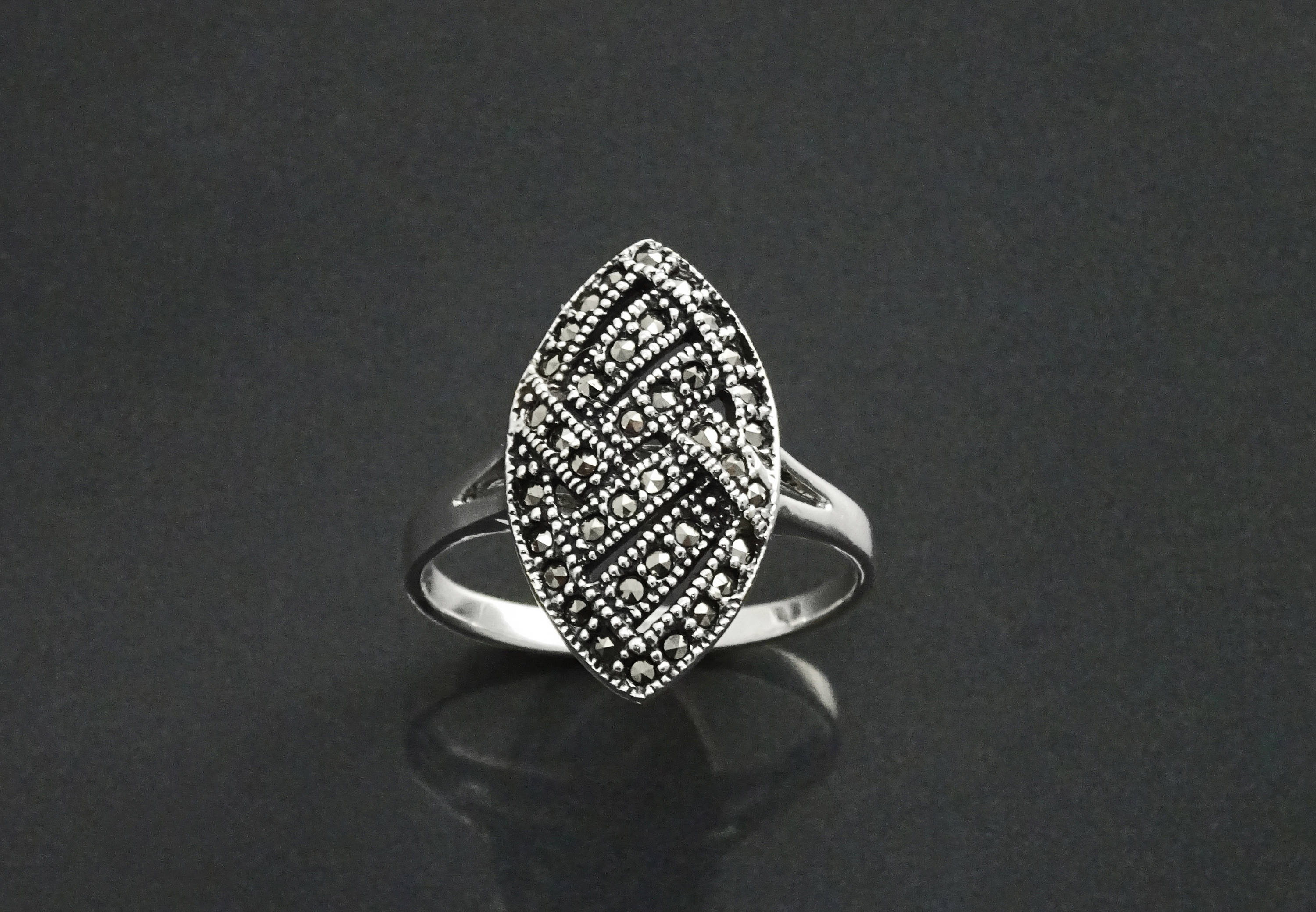 prongs sterling ringmarcasite marcasite lyst in rings pomellato jewelry gallery cabochon silver ring product