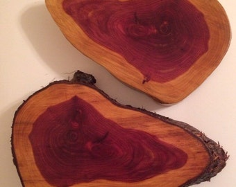 Red Cedar Trivets Round and Oblong. Handmade. UNIQUE GIFT! Live Edge. Plant Stand, Centerpiece, Many Other Uses. Hurricane Matthew Salvage