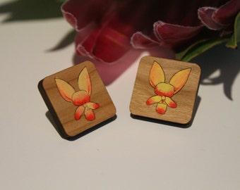 Australian Flower Earrings-Australian Wildflower Earrings-Wood Flower Earrings-Donkey Orchid-Surgical Steel Earring Posts