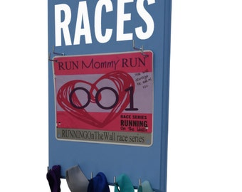 This Running Race Bib Holder offer a perfect Race Bib and medal Displays